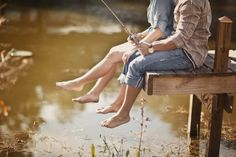 fishing. Engagement pic's?