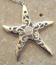 Silver Starfish Necklace..pretty!