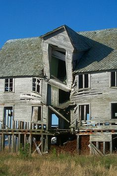 old house falling into lake - Google Search