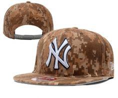 70c2c5aab34 Casquette MLB New York Yankees Snapback Brun Camo   Casquette Pas Cher