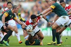 The first game at the RWC 2015 against South Africa