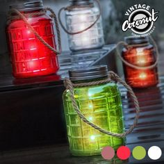 Decorate your home with style and originality with the Grange Vintage Coconut Decorative Glass Jar with LEDs! Candle Tray, Candles, Oh My Home, Bamboo Box, Led Licht, Glass Jars, Decoration, Decorative Items, Decorating Your Home