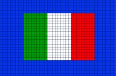 Flag of Italy Pixel Art
