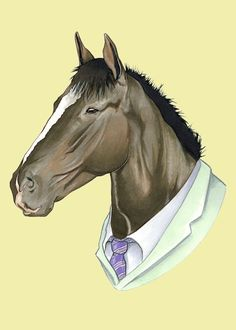 Despite his rugged good looks, this horse has always been a little shy. You would never know it from reading his mystery novels, however. He