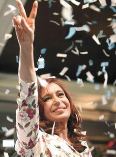 Cristina Fernández de Kirchner, the first female president in Argentina. (I'm a supporter. Female World Leaders, Cristina Fernandez, Nestor Kirchner, Jackie Kennedy, Celebs, Celebrities, Half The Sky, Rock And Roll, El Amor