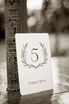 TABLE NUMBERS: Sweet Vintage Wedding Table Number Signs 1- 20 by SixpencePress, $25.00 Beautifully done and a good value!                                                                                                                                                                                 More