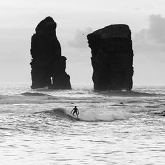 Surfing in Mosteiros, São Miguel hte #Azores #Portugal