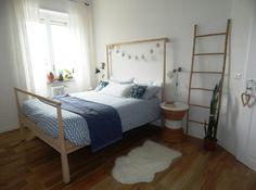 Gjora bed ikea home deco Ikea Inspiration, Bedding Inspiration, Home Decor Bedroom, Modern Bedroom, Wood Bedroom, White Bedroom, Bedroom Inspo, Ikea Bed, Master Bedroom Closet