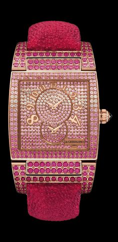 de Grisogono Instrumento N°UNO Collection pink gold - white diamonds, pink sapphires  rubies