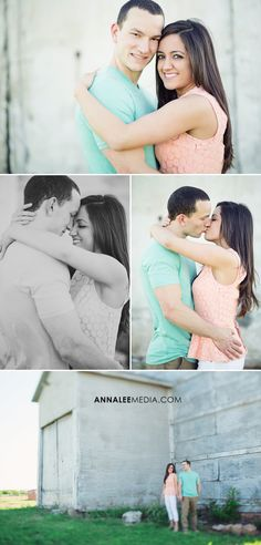 © Anna Lee Media | Oklahoma Engagement Photographer, couple pose, bright color outfits