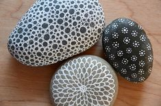 painted rocks by funnelcloud rachel, via Flickr