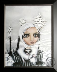 size: Stretched Canvas Print: Eirwen by Angelina Wrona : Entertainment Using advanced technology, we print the image directly onto canvas, stretch it onto support bars, and finish it with hand-painted edges and a protective coating. Porcelain Dolls Value, Apple Art, Painting Edges, Body Painting, Canadian Artists, Stretched Canvas Prints, Box Art, Amazing Art, Fantasy Art