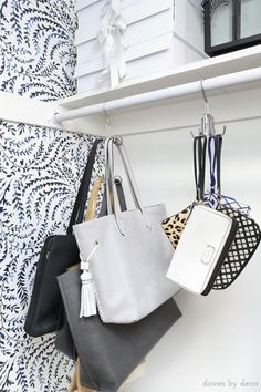 I need these for organizing my purses and totes in my closet! Love that they're so easy to grab and go!
