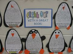 Penguin book reviews for our Winter Bulletin Board!
