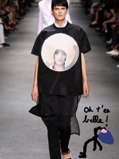 Stella Tennant en Givenchy Homme