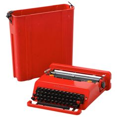 Olivetti Valentine Typewriter Designed By Ettore Sottsass & Perry King. | From a unique collection of antique and modern desk accessories at http://www.1stdibs.com/furniture/more-furniture-collectibles/desk-accessories/