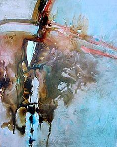 Microburst by Joyce Gabiou  Watercolor on Yupo