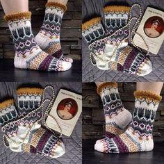 Ravelry: Matriarkka pattern by Jenni Sorri Crochet Socks, Knitted Slippers, Wool Socks, Knitting Socks, Hand Knitting, Knitting Patterns, Knit Crochet, Crochet Patterns, Lots Of Socks