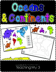 Learn continents and oceans with this puzzle and worksheets. Excellent for Classical Conversations. Cycle 2 week 1.