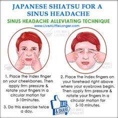 Japanese Shiatsu For Sinus Headache #health #nature For More www.livealittlelonger.com