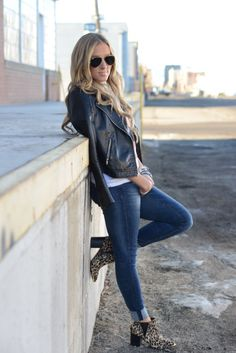 Mallory Sauer of Sweet & Sauer will teach you how to combine causal pieces effortlessly into chic rocker-esque outfits