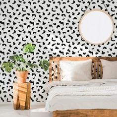 High-quality and removes clean, Tempaper is the perfect removable wallpaper! Covering boring walls with fresh, modern designs. Textured Wallpaper, Black Wallpaper, Fabric Wallpaper, Animal Print Wallpaper, Jack And Jill Bathroom, Design Repeats, White Rooms
