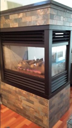 Kingsman direct vent peninsula fireplace learnshopenjoy basement three sided gas fireplace that i tiled with granite top teraionfo