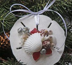 Beach Decor Seashell Christmas Ornament By