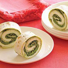 Pesto Arugula Wraps | MyRecipes.com
