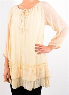 6556b83bd74 Gauze Peasant Vintage Boho Casual comfy 1X   2X Plus Size Top Blouse Tunic   NEW   BeverlyHillse  Tunic  Casual