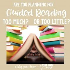 I used to spend SO MUCH TIME creating my guided reading lesson plans.  Then I got overwhelmed and tried to rely on the publisher's suggested lesson plans.  Even bigger mistake!  Now I plan quickly and efficiently and I can even re-use the lessons again in