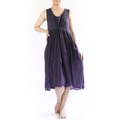 Sleeveless Cotton Baggy Dress Maternity Dress by wildolivestudio