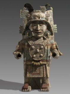 Figura maya en arcilla,Yucatan,Mexico