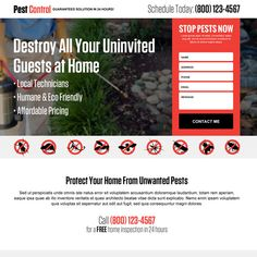Mobile Responsive Landing Page Design Templates For Marketing Conversion Responsivepest Control