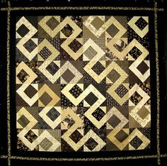 Road Less Traveled Kit- Black and Tan Quilt Kits, Fat Quarters, Animal Print Rug, Quilt Patterns, Quilting, Scrap, Diy Projects, Number, Fancy