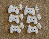 Westie Dog Sewing Buttons 6
