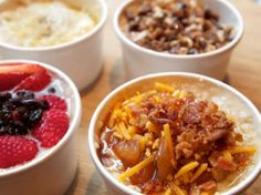 Take your pick NYC! Oatmeal as you've never seen it before!