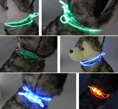 cool HOT SALE~Safety Portable Pet Dogs LED Lighting Night Nylon Safety Collars 80cm