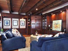 Dark Panels..Cottage | Living Rooms | David Bromstad : Designer Portfolio : HGTV - Home & Garden Television