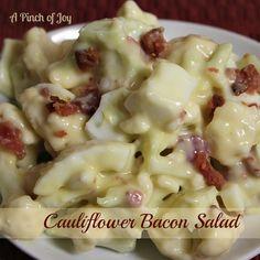 Cauliflower Bacon Salad | A Pinch of Joy
