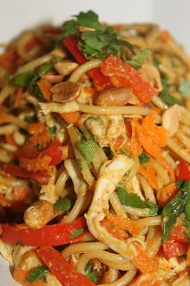 Straight Up Good Food: Thai Chicken Satay Pasta