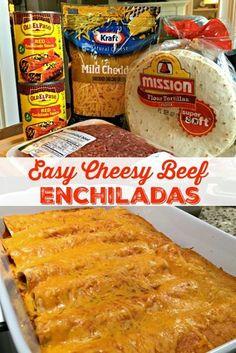 Food Wallpaper Tumblr, Enchiladas Mexicanas, Easy Beef Enchiladas, Ground Beef Enchiladas, Enchilada Casserole Beef, Enchilada Sauce, Mexican Enchiladas, Hamburger Casserole, Chicken Casserole