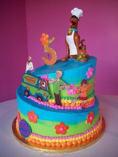 Chef Scooby Doo cake by Caryn's Cakes Fifth Birthday Cake, Scooby Doo Birthday Cake, Birthday Crafts, Birthday Fun, Birthday Parties, Birthday Ideas, Husband Birthday, Fancy Cakes, Cute Cakes