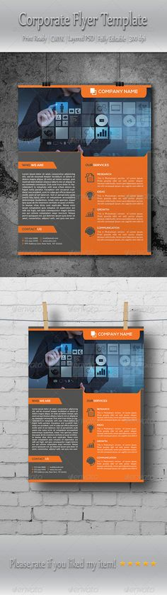 Multipurpose Corporate Business Flyer Template PSD   Buy and Download: http://graphicriver.net/item/multipurpose-corporate-business-flyer-template/8739830?WT.ac=category_thumb&WT.z_author=Elitely&ref=ksioks