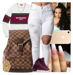 """Untitled #1359"" by msixo ❤ liked on Polyvore featuring Louis Vuitton, Rolex and NIKE"