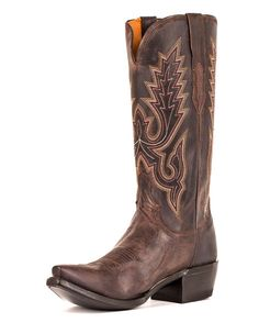 Chocolate leather & hand-stitched details, the perfect cowboy boot that goes from day to night! | Country Outfitter