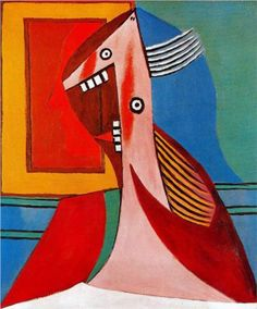 Bust of a woman and self-portrait - Pablo Picasso