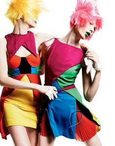 Candy-Colored Couture - The Kaleidoscope Color Interview Magazine Editorial is a Rainbow of Hues (GALLERY)