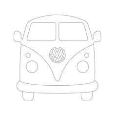 Designer Cuts : svg file - VW BUS (by Alissa Mortensen)