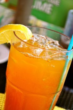 Mango Iced Tea - make with tetley cinnamon orange blossom tea and instead of mint, add slice, peeled orange. This recipe is so delicious! Or try a blueberry, strawberry, raspberry, or peach variation.